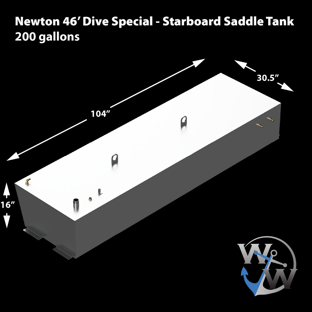 Newton 46' Dive Special - 200 gal. OEM Replacement Diesel Saddle Tank