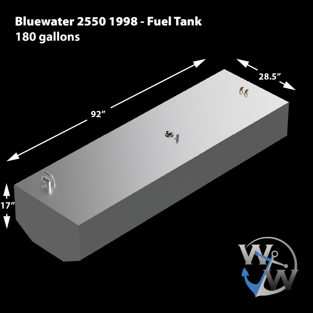 Bluewater 2550 1998 - 180 gal. OEM Replacement Belly Fuel Tank