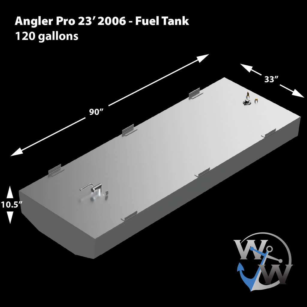 Angler Pro 23' 2006 120 gal. OEM Replacement Belly Fuel Tank