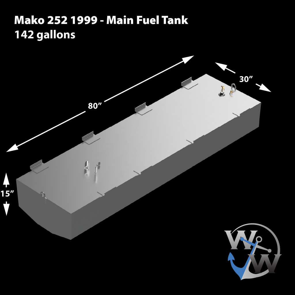 Mako 252 - 1999 - 142 & 51 gal. OEM Replacement Belly Fuel Tank Combo Kit