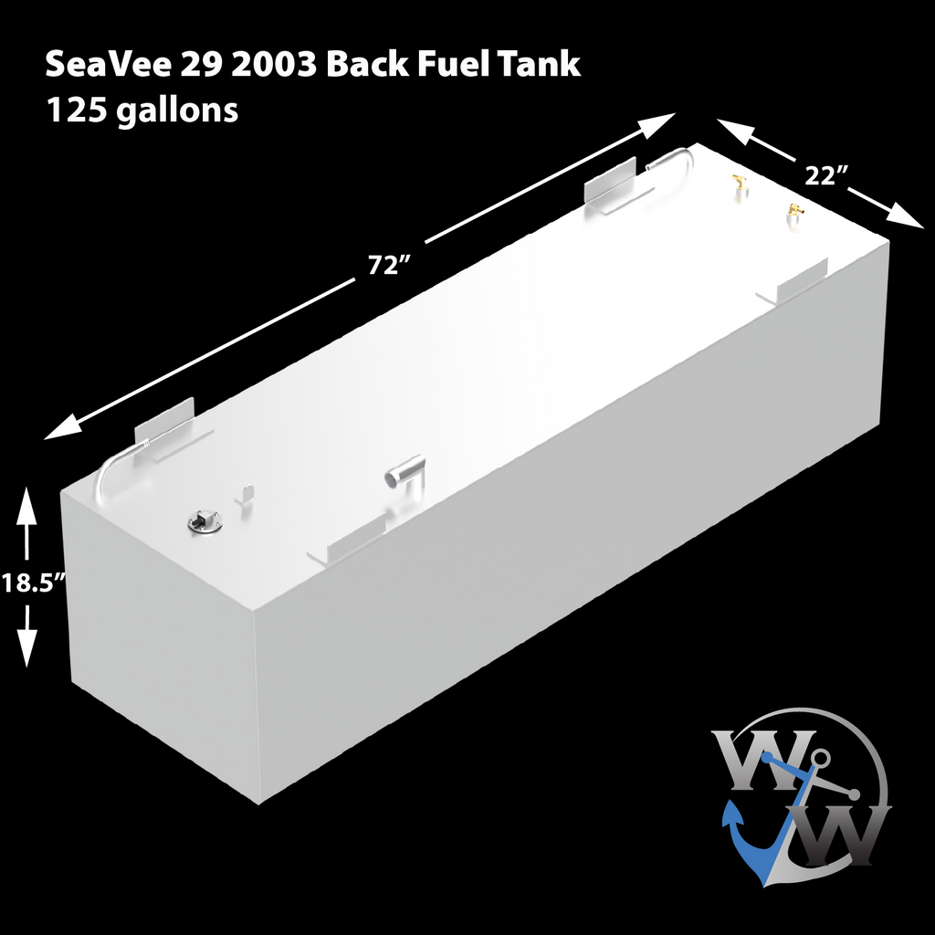 SeaVee 29'  2003 2-Tank Combo 125 & 64 gal. OEM Replacement Fuel Tank Kit