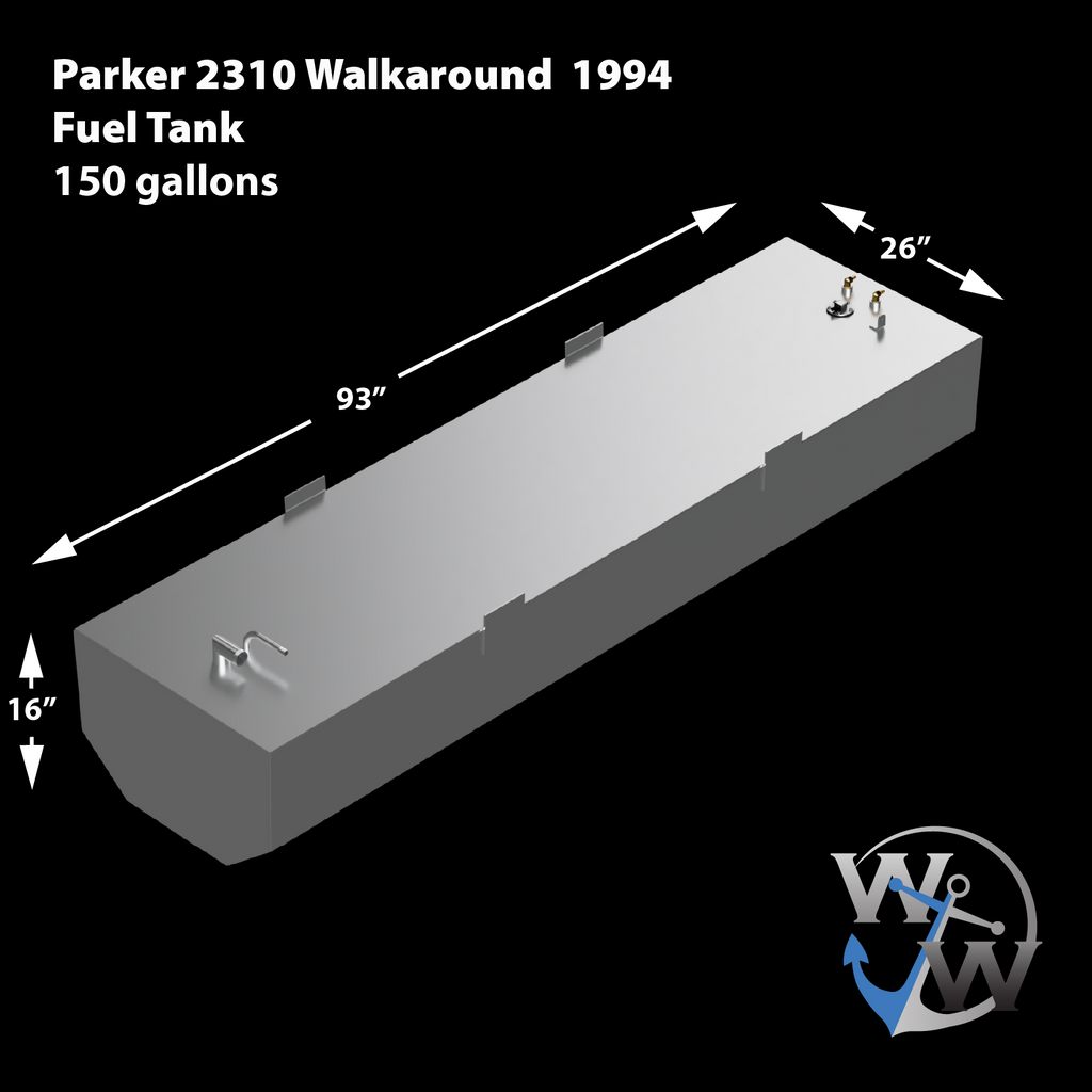 Parker 2310 Walkaround 1994 - OEM replacement 155 gal. Fuel Tank