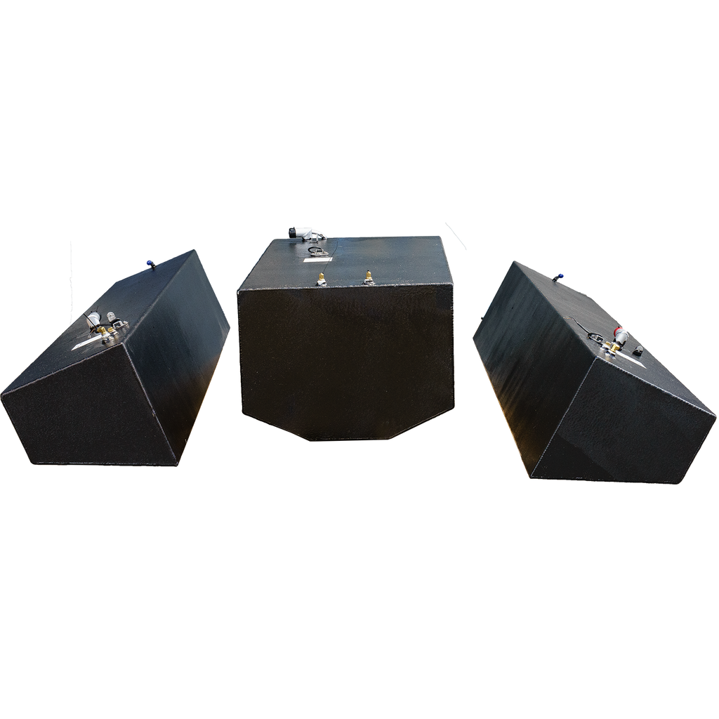 Contender 31' OEM Replacement 3 Fuel Tank Combo Kit #1 - 1 Large Bow (128 gal.) & 2 Standard Saddle Tanks