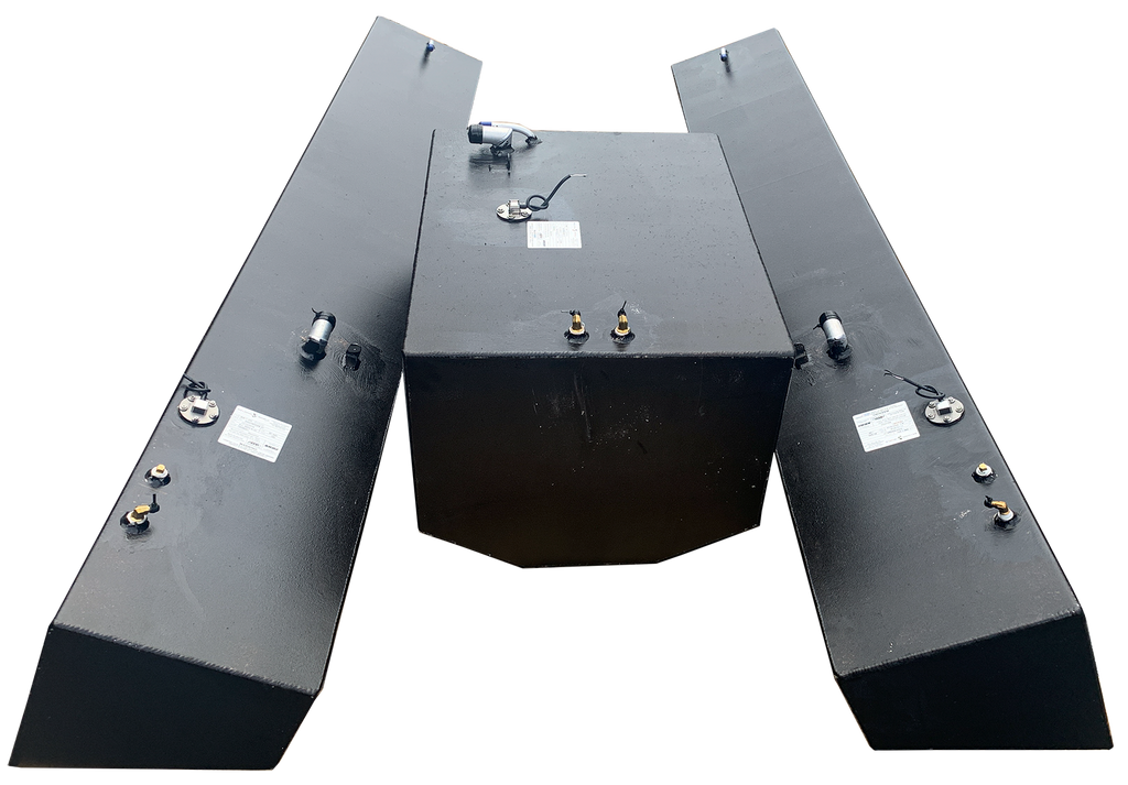 Contender 31' OEM Replacement 3 Fuel Tank Combo Kit #2 - 1 Small Bow (75 gal.) & 2 Standard Saddle Tanks
