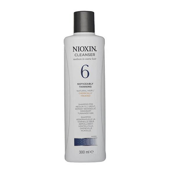 NIOXIN System 6 Cleanser Shampoo for Noticeably Thinning, Medium to Coarse, Natural and Chemically Treated Hair
