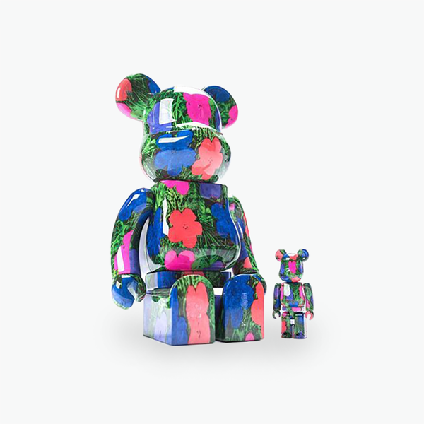 Andy Warhol #4 Flowers Be@rbrick 400% & 100%