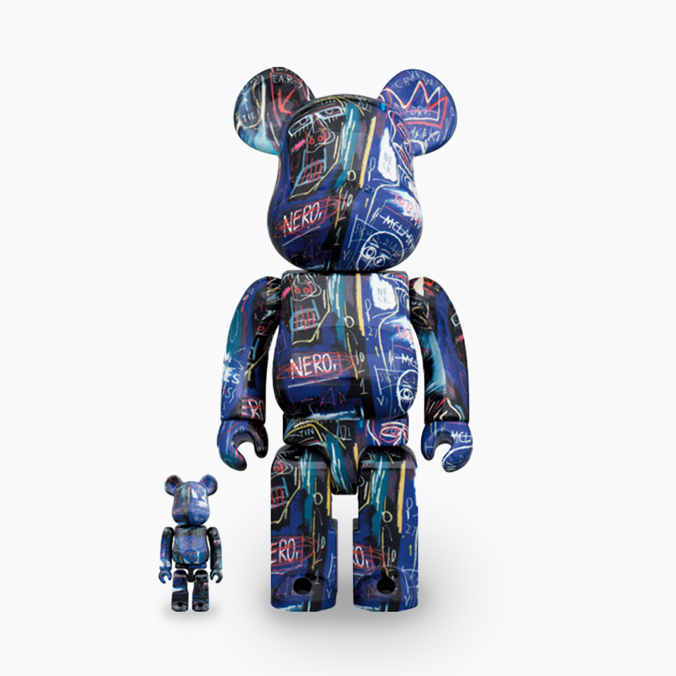 JEAN-MICHEL BASQUIAT BE@RBRICK #7 400% & 100%