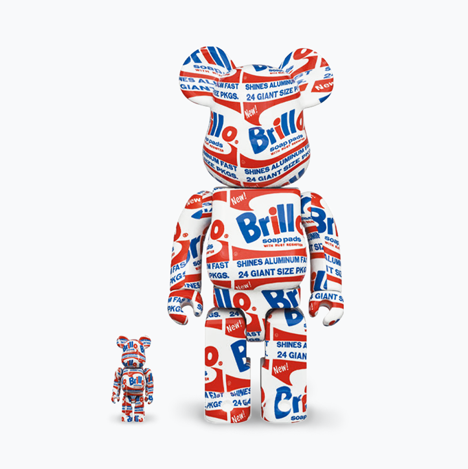 Andy Warhol Brillo Bearbrick 400% & 100%