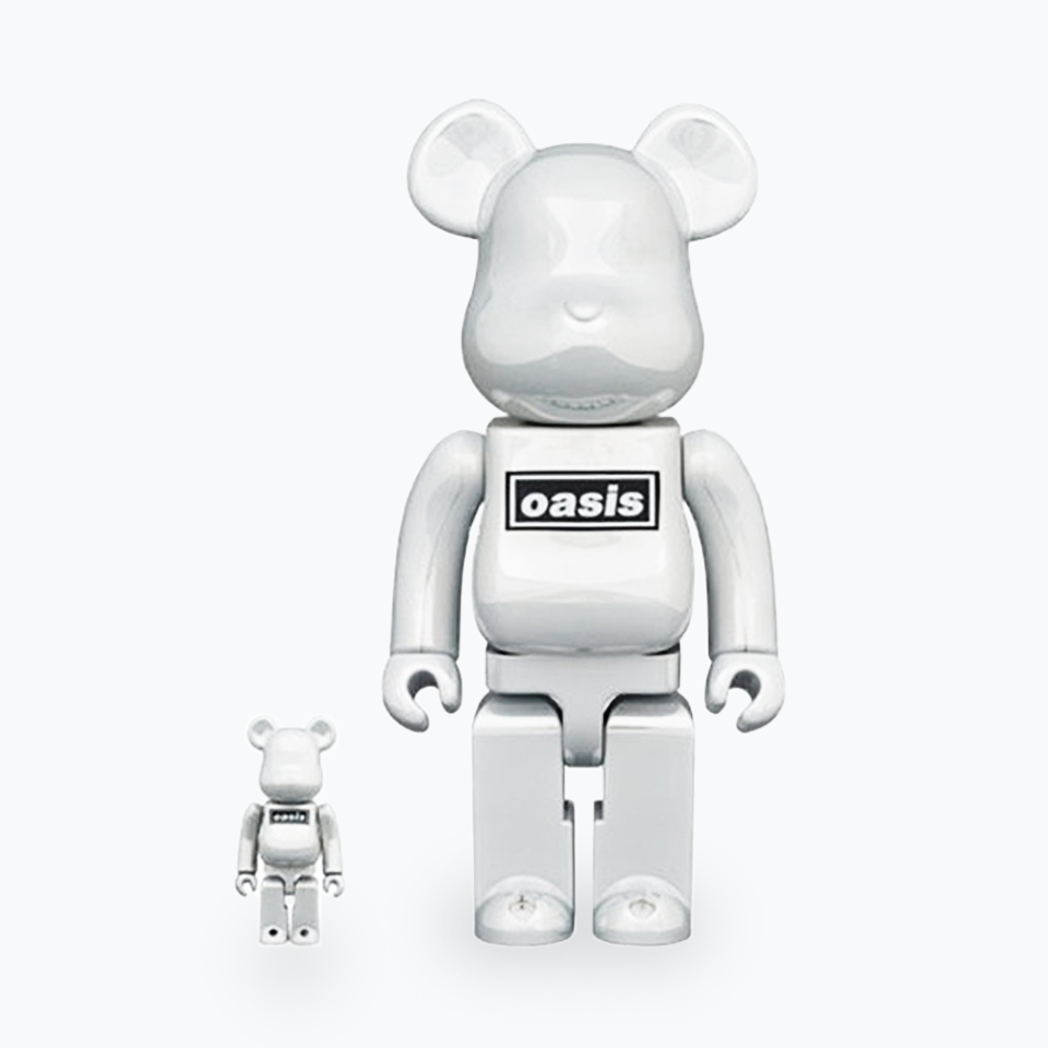 Oasis White Chrome Be@rbrick 400% & 100%