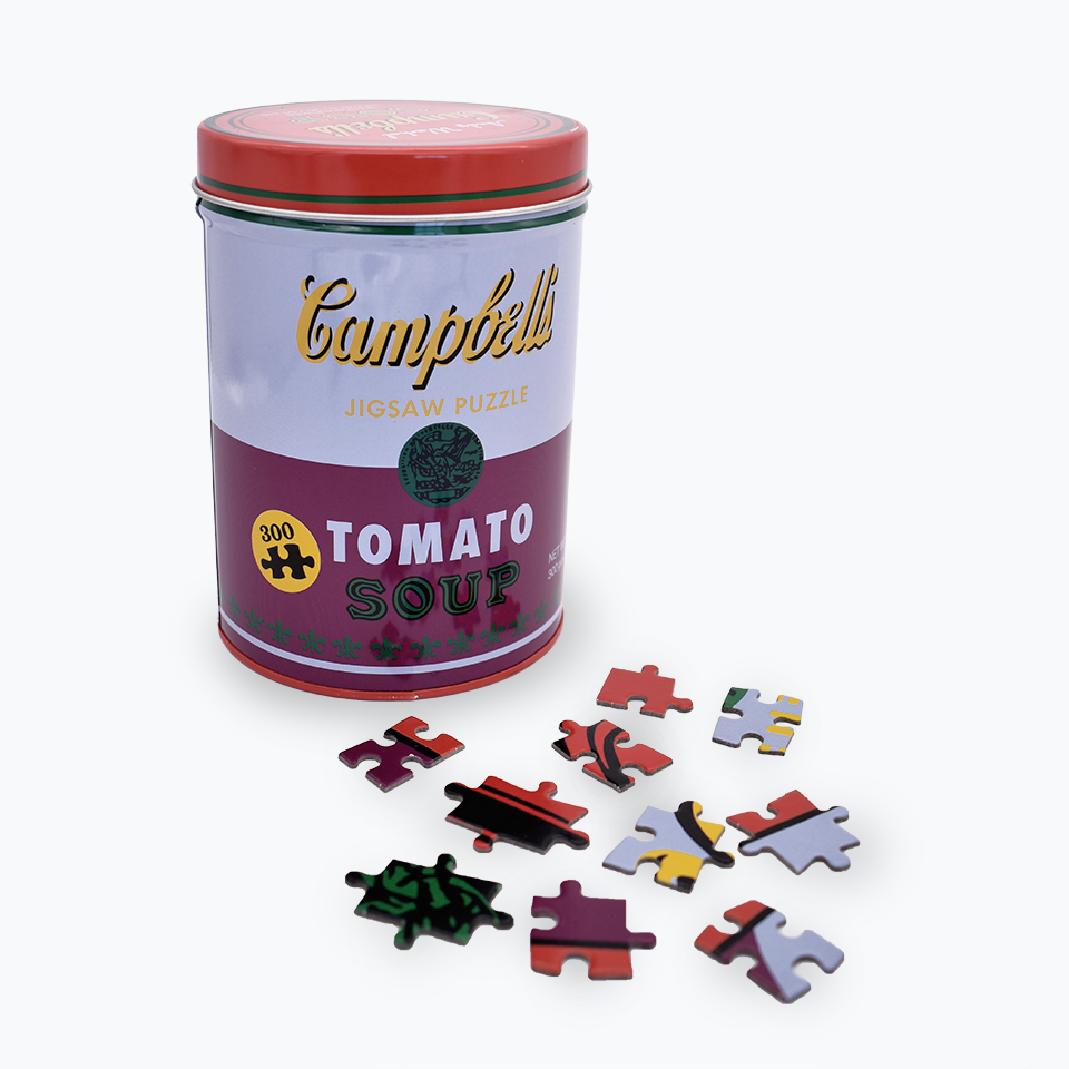 Andy Warhol Tomato Soup (Red/Violet) Jigsaw Puzzle