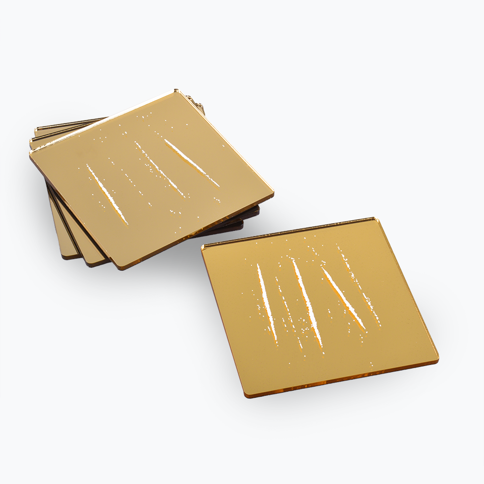 'The Night You Left' Coasters by Nir Hod (Gold)