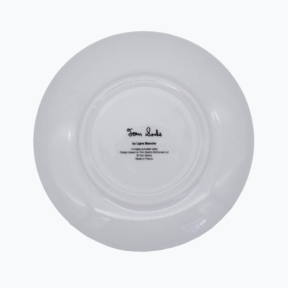 Tom Sachs 'McDonald Ltd' Porcelain Plate