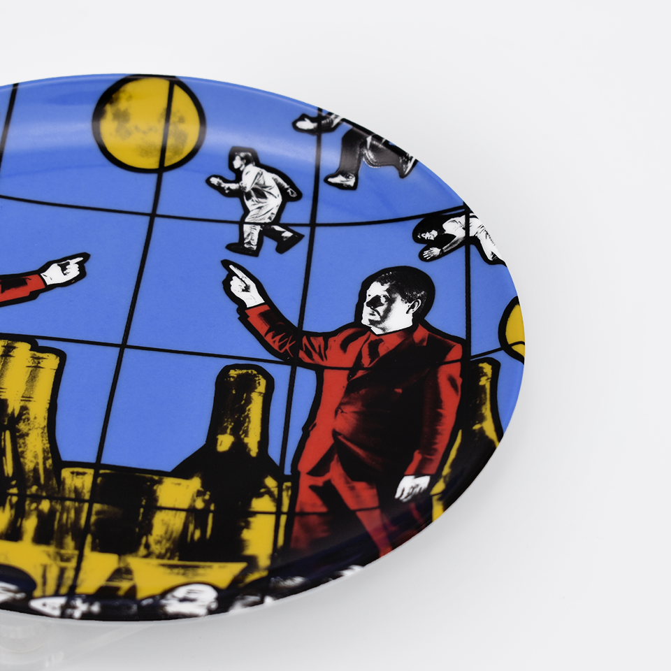 Gilbert & George 'Flight' Porcelain Plate