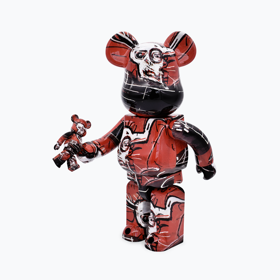 Jean-Michel Basquiat Be@rbrick #5 400% & 100%