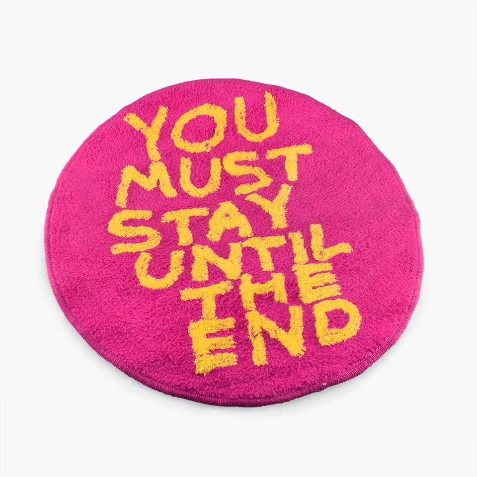 David Shrigley Shaggy You Must Stay Floor Mat