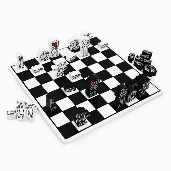 Keith Haring Wood Chess Set