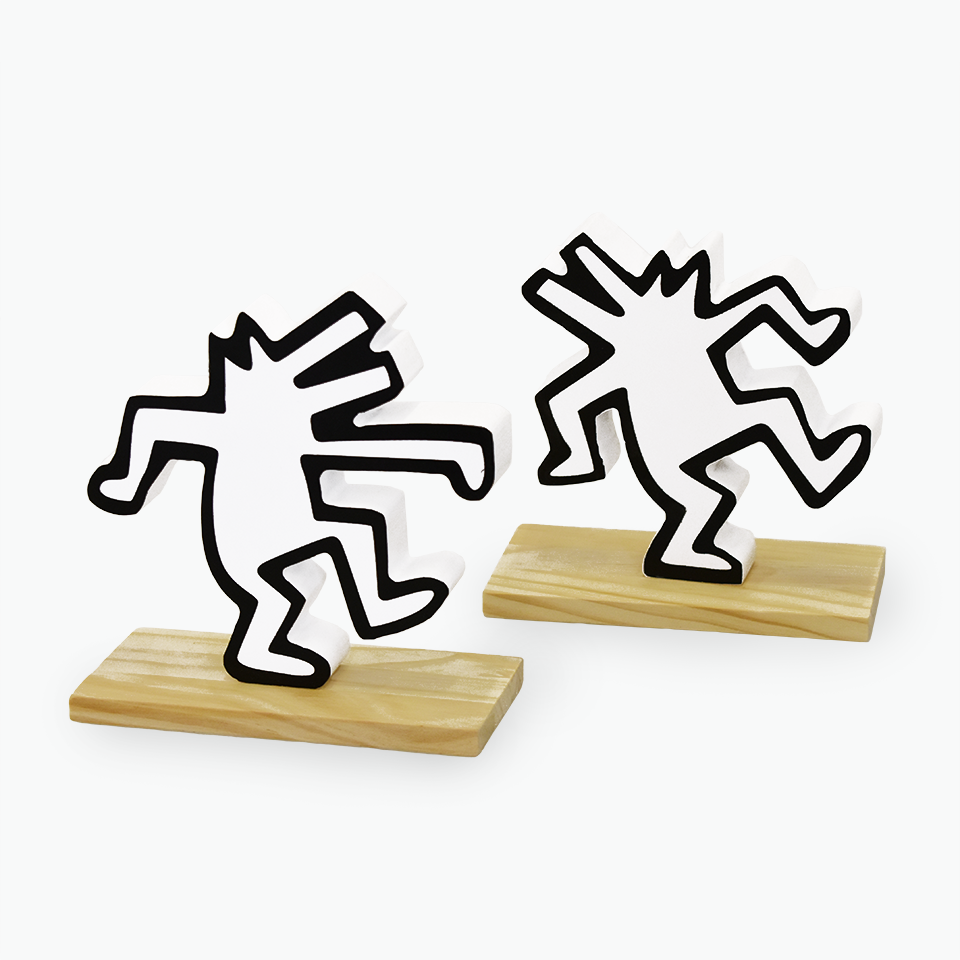 Keith Haring Book Ends