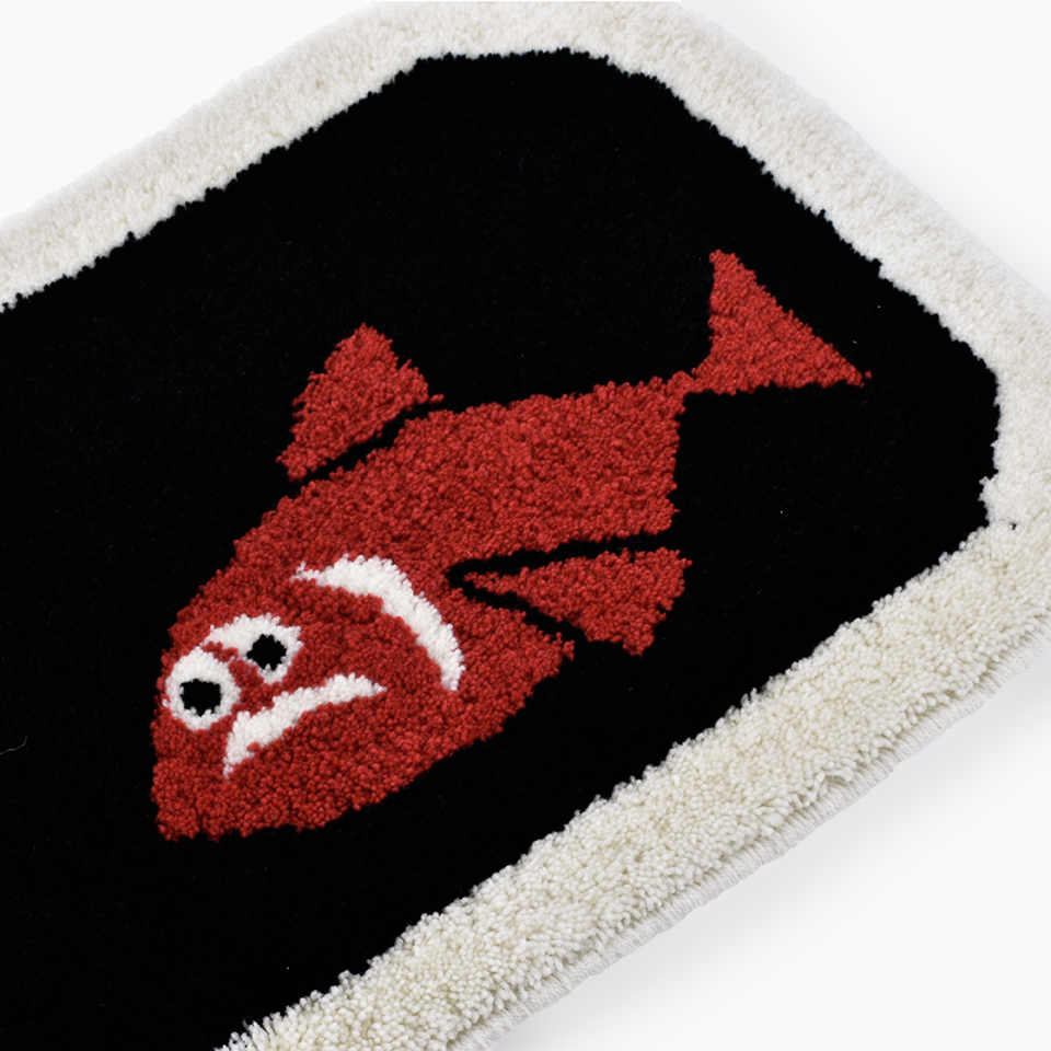 Yusuke Hanai Bottle Big Fish Rug