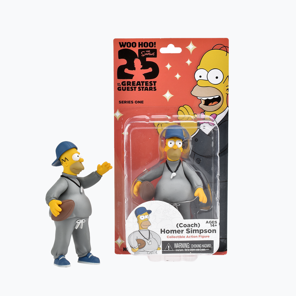 The Simpsons 25th Anniversary Coach Homer Simpson Figure