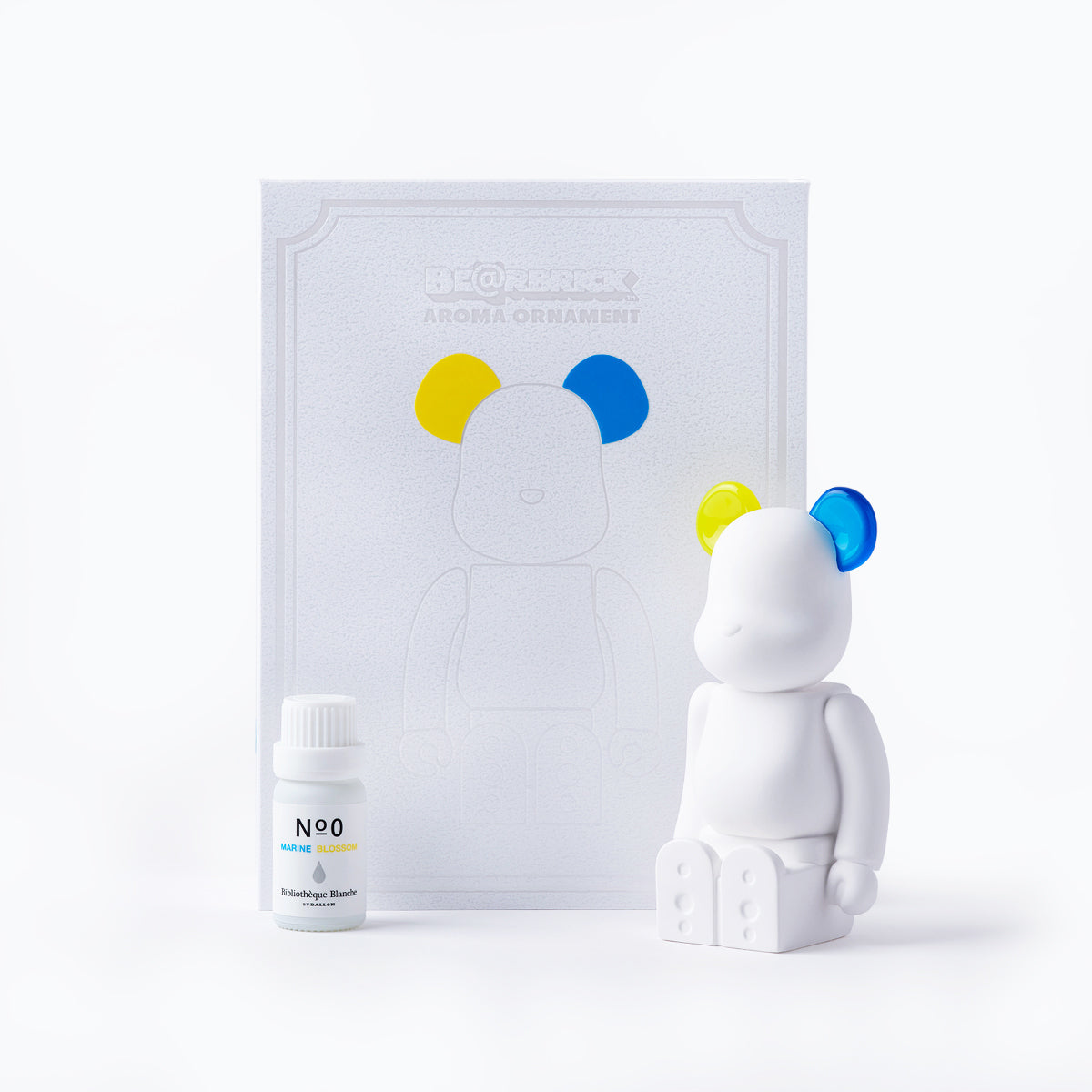 Medicom x Bibliothèque Blanche Be@rbrick Aroma Ornament (Yellow/Blue)
