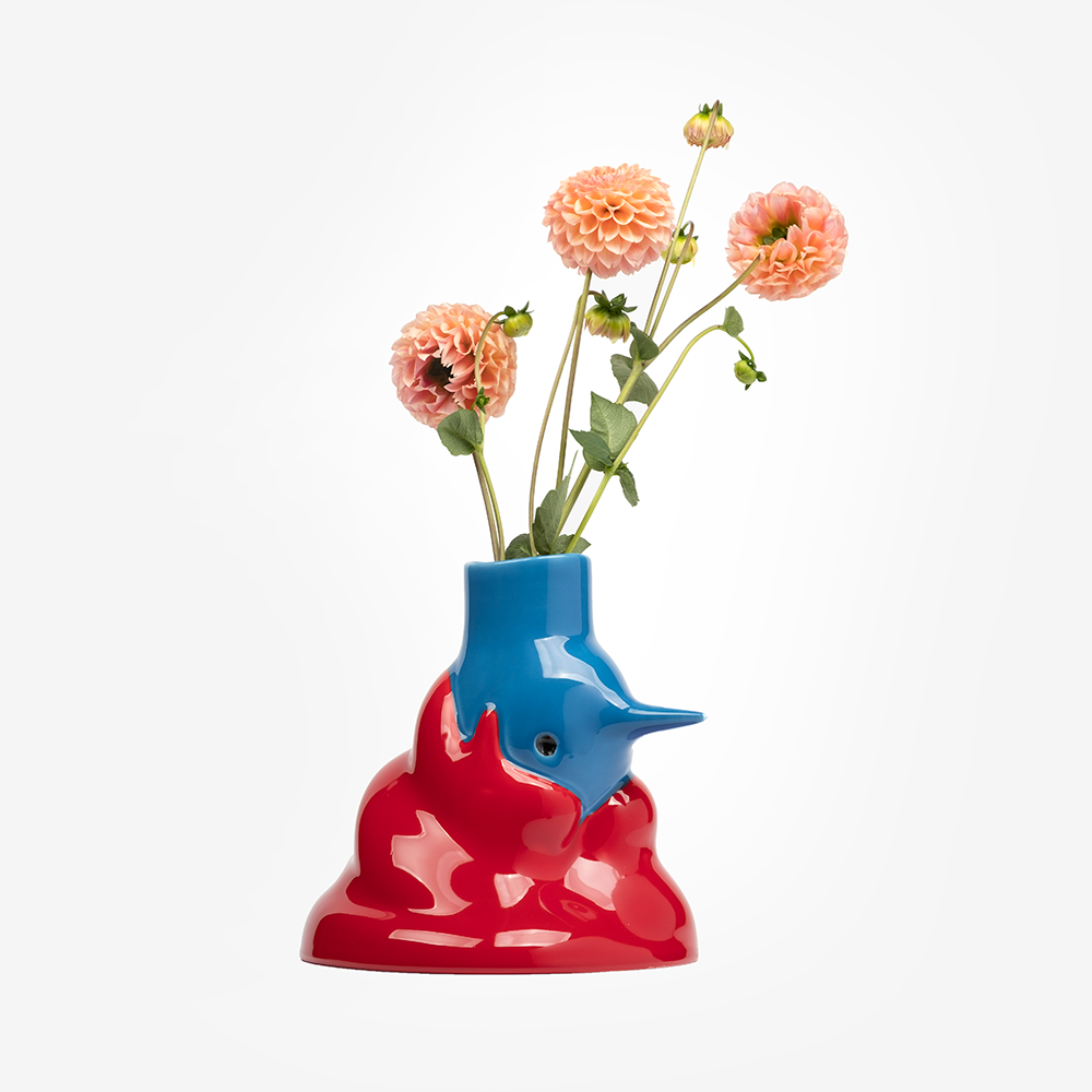 'The Upside Down Face Vase Hair' By Parra