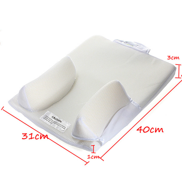 Baby Care Infant Anti Roll Pillow Prevent Flat Head Cushion