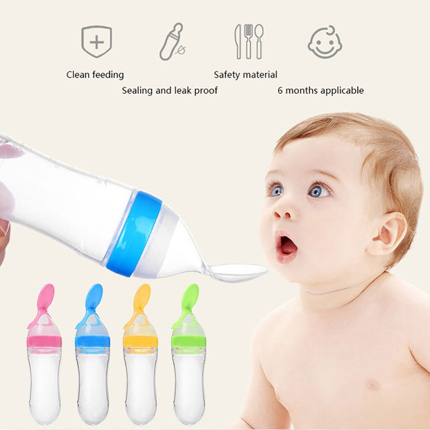 Baby Bottle Squeezer With Convenient Spoon