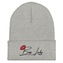 Load image into Gallery viewer, Boss Lady Beanie (Black Font)