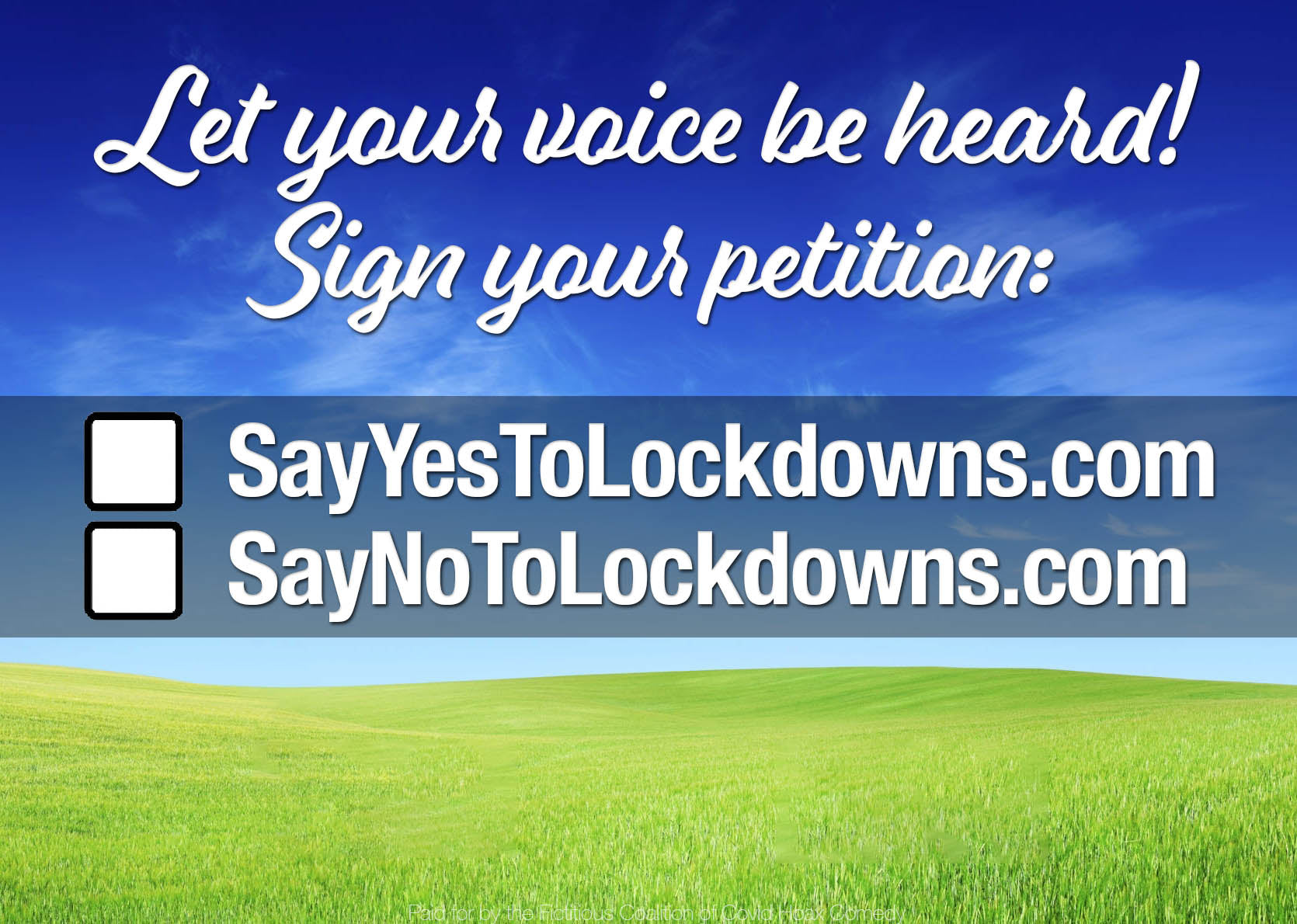 Petition for Lockdowns