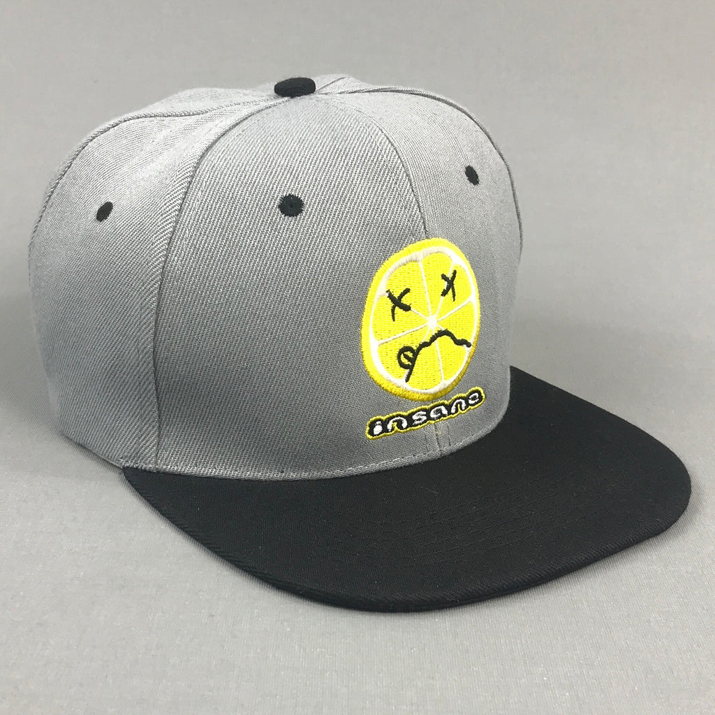 Insane Acidic Lemon Grey Snapback Cap