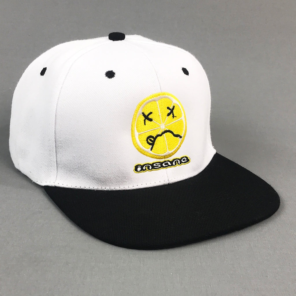 Insane Acidic Lemon White Snapback Cap