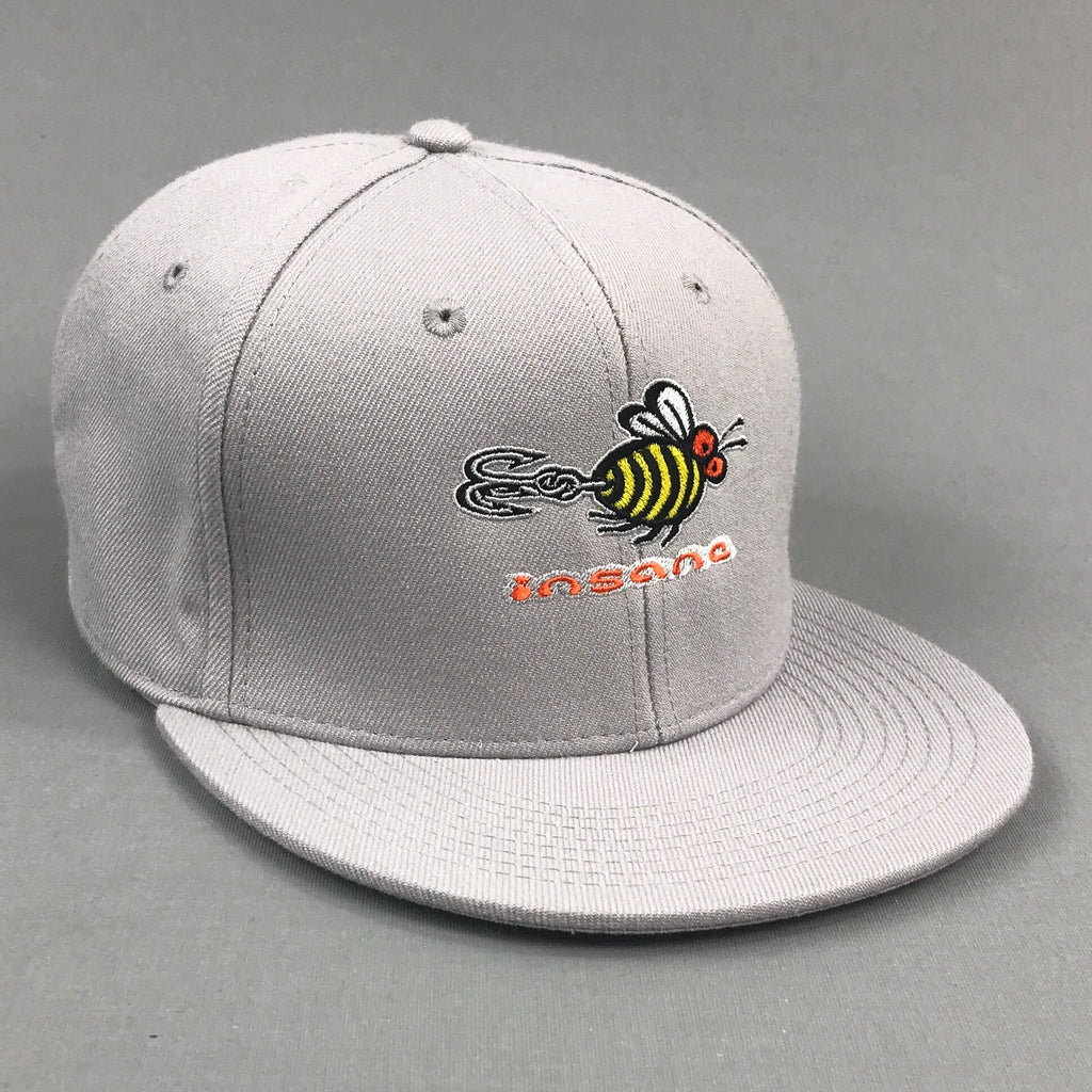 Insane Bee Grey Snapback Cap
