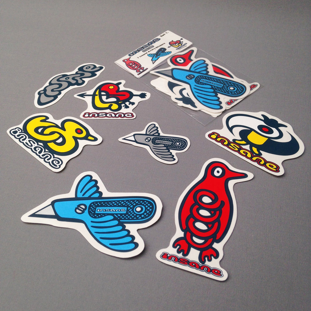 Insane Aviary sticker pack 1.