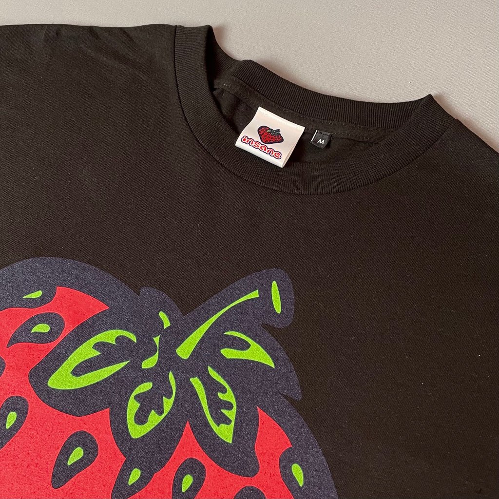 Insane Strawberry Edition Black T-Shirt