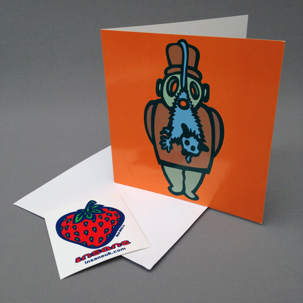 Blue Beard greetings card.