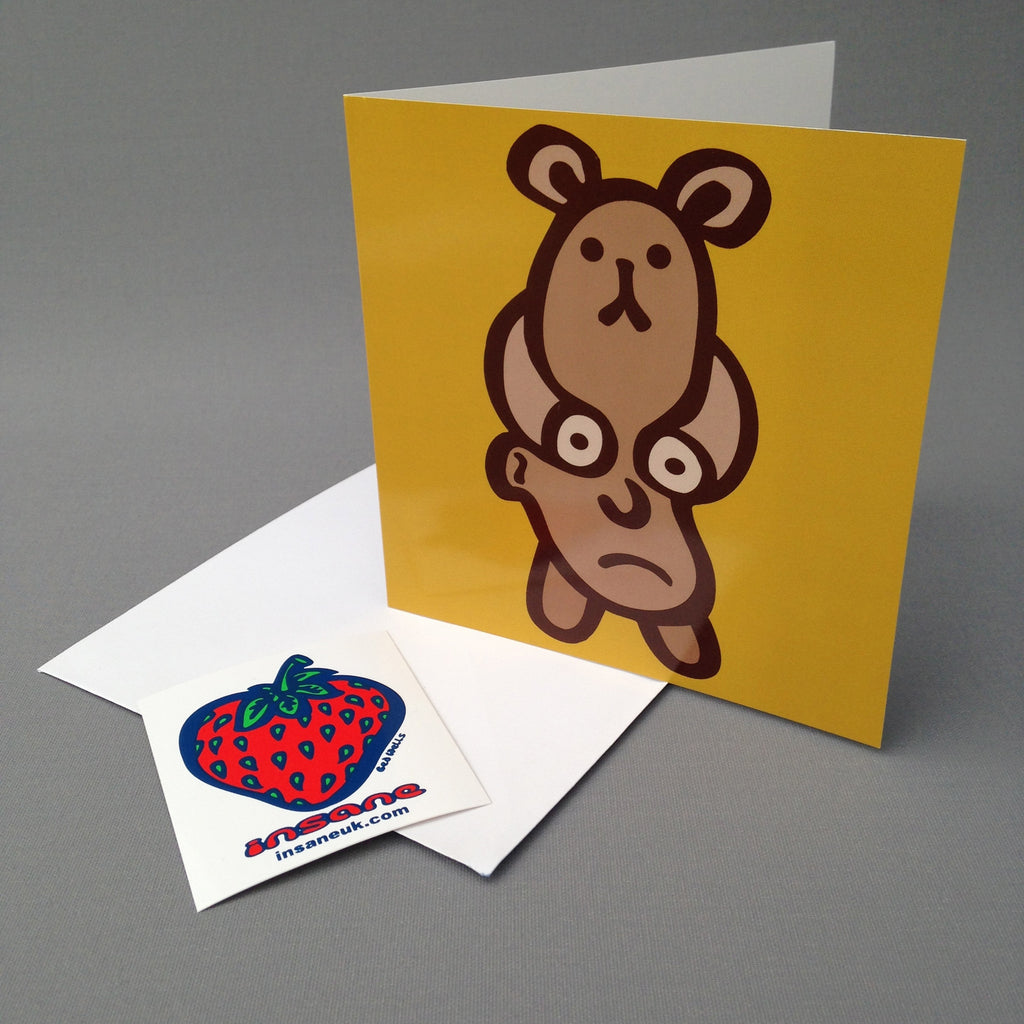Bear Faced Liar greetings card.