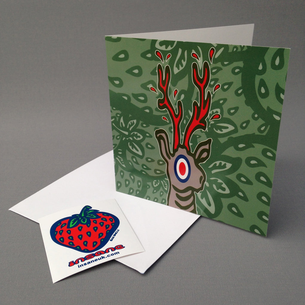 Deer Hunter greetings card.