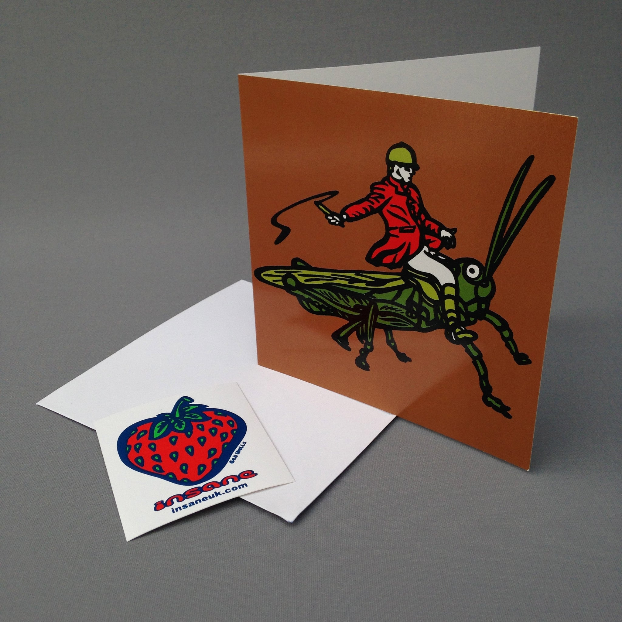 Locust Hunter greetings card.