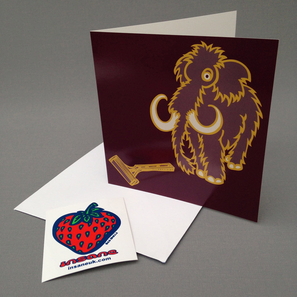 Mammoth greetings card.