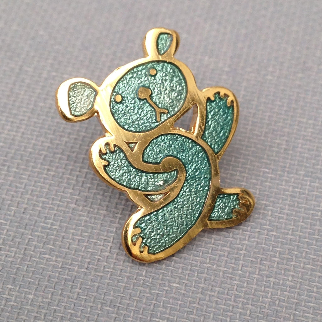 Twisted Teddy Enamel Badge