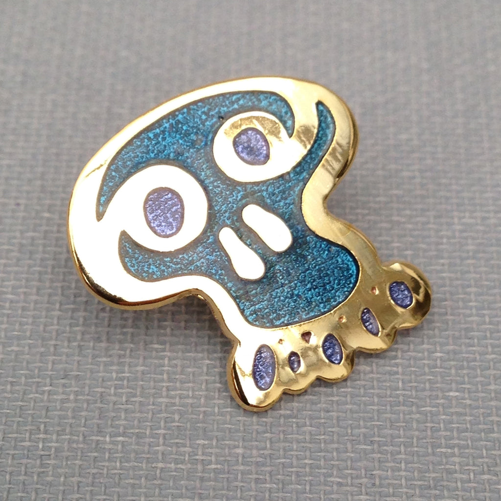 Insane Mobius Skull Enamel Badge