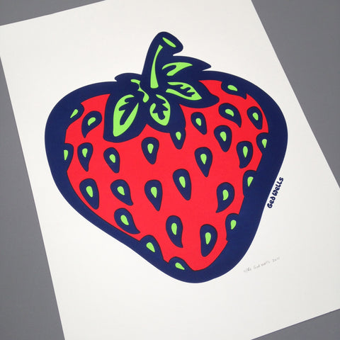 Strawberry Screen Print.