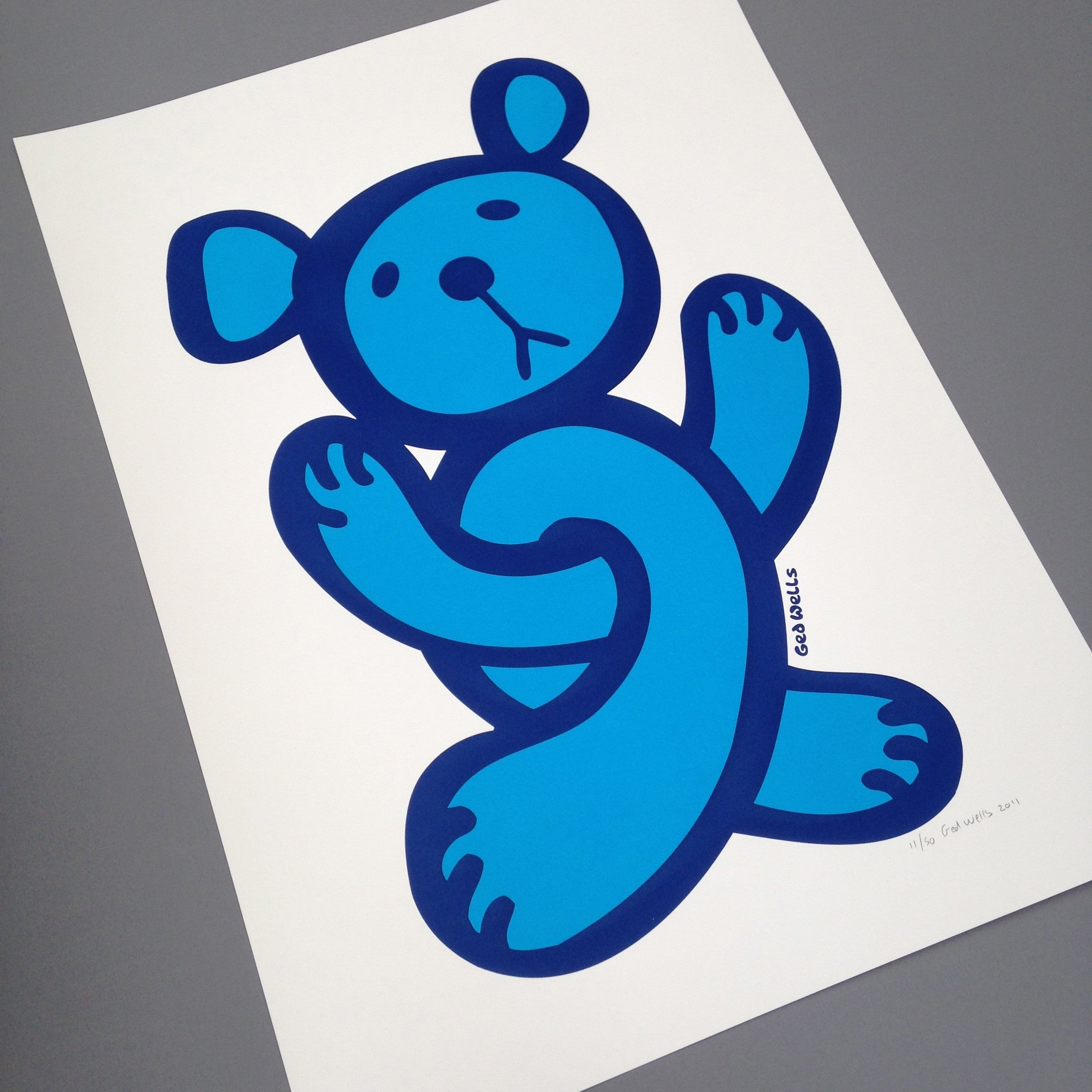 Twisted Teddy Large screen print.