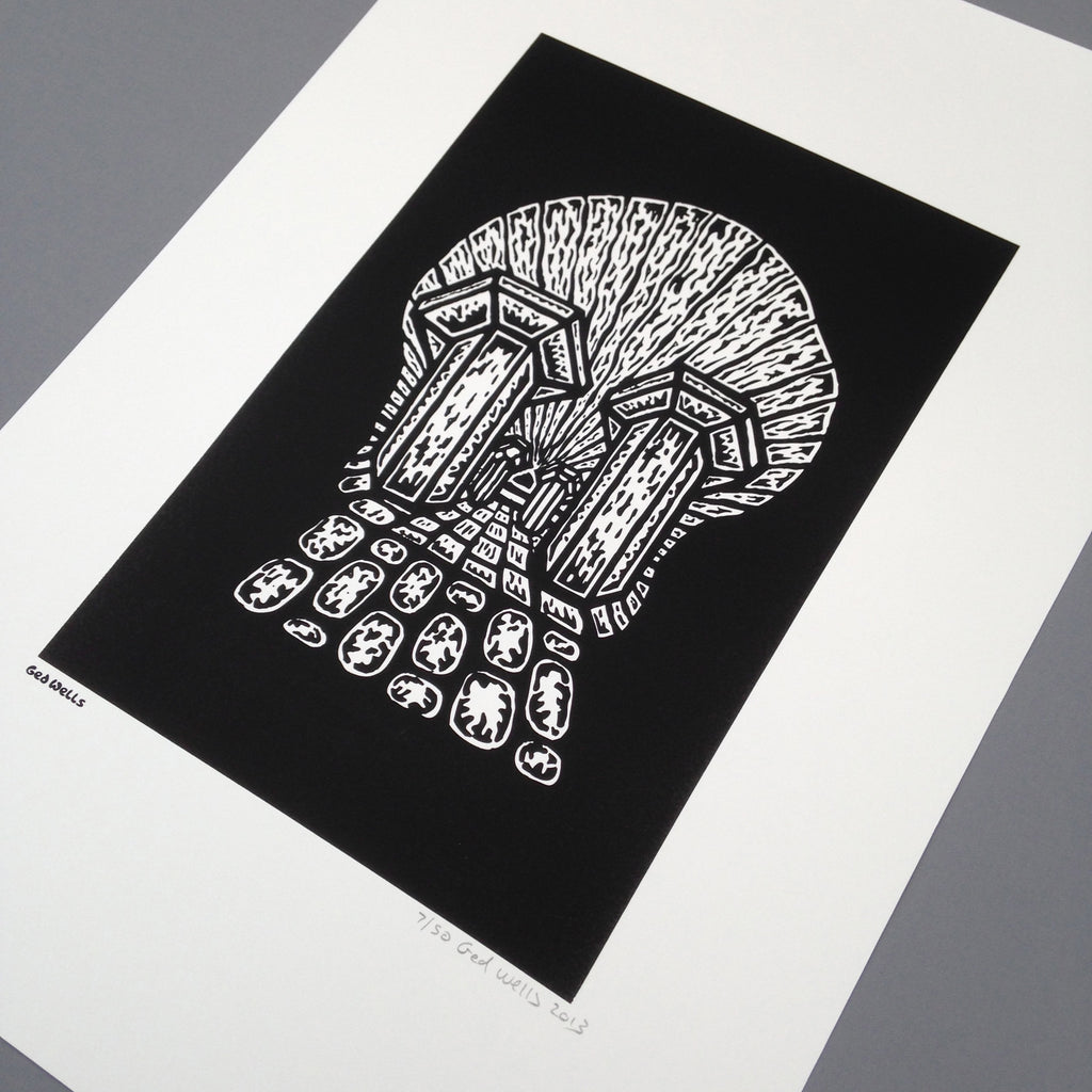South Bank Skull Screen Print.