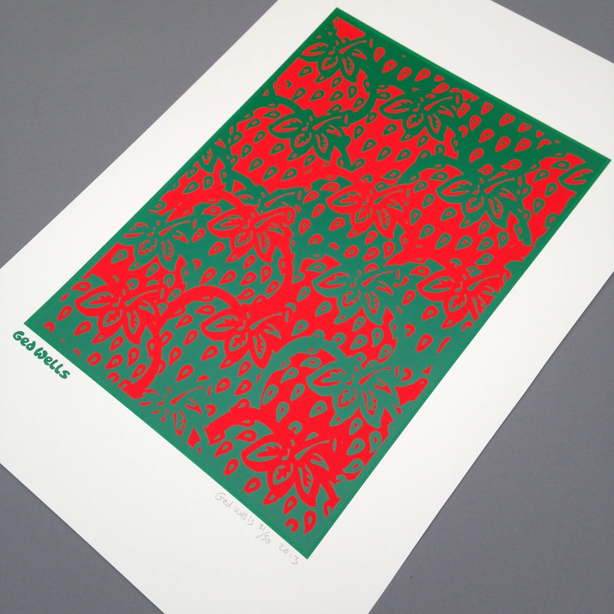 Strawberry Vibrations Screen Print