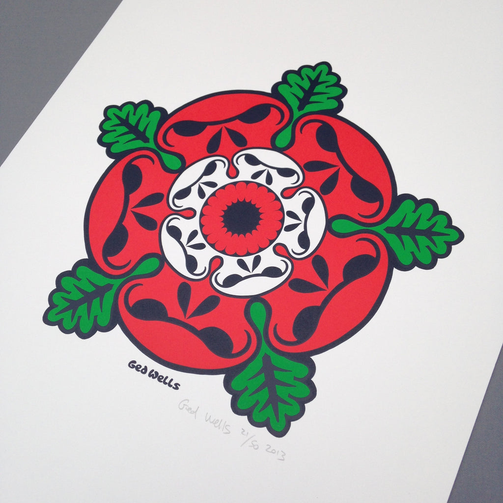 Tudor Rose Screen Print