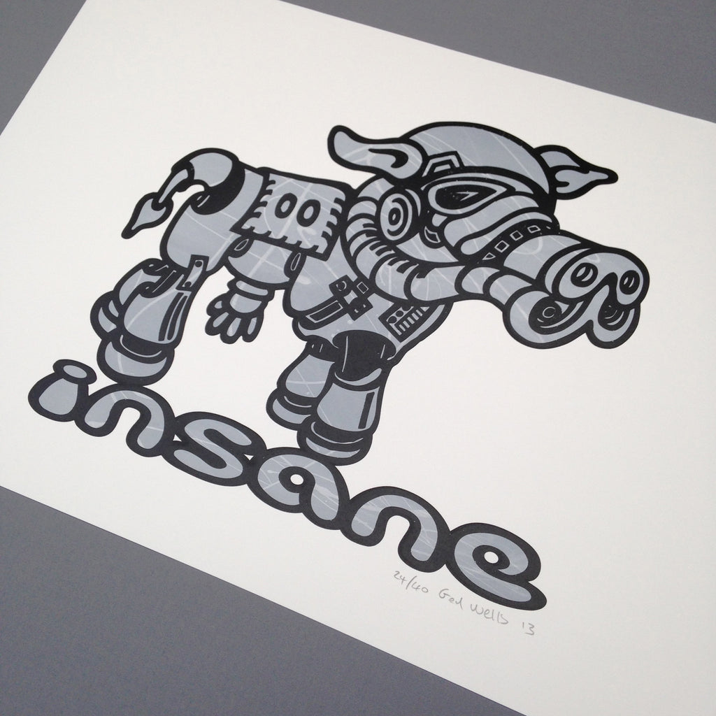 Clone Wars Storm Trooper Cow Screen Print.