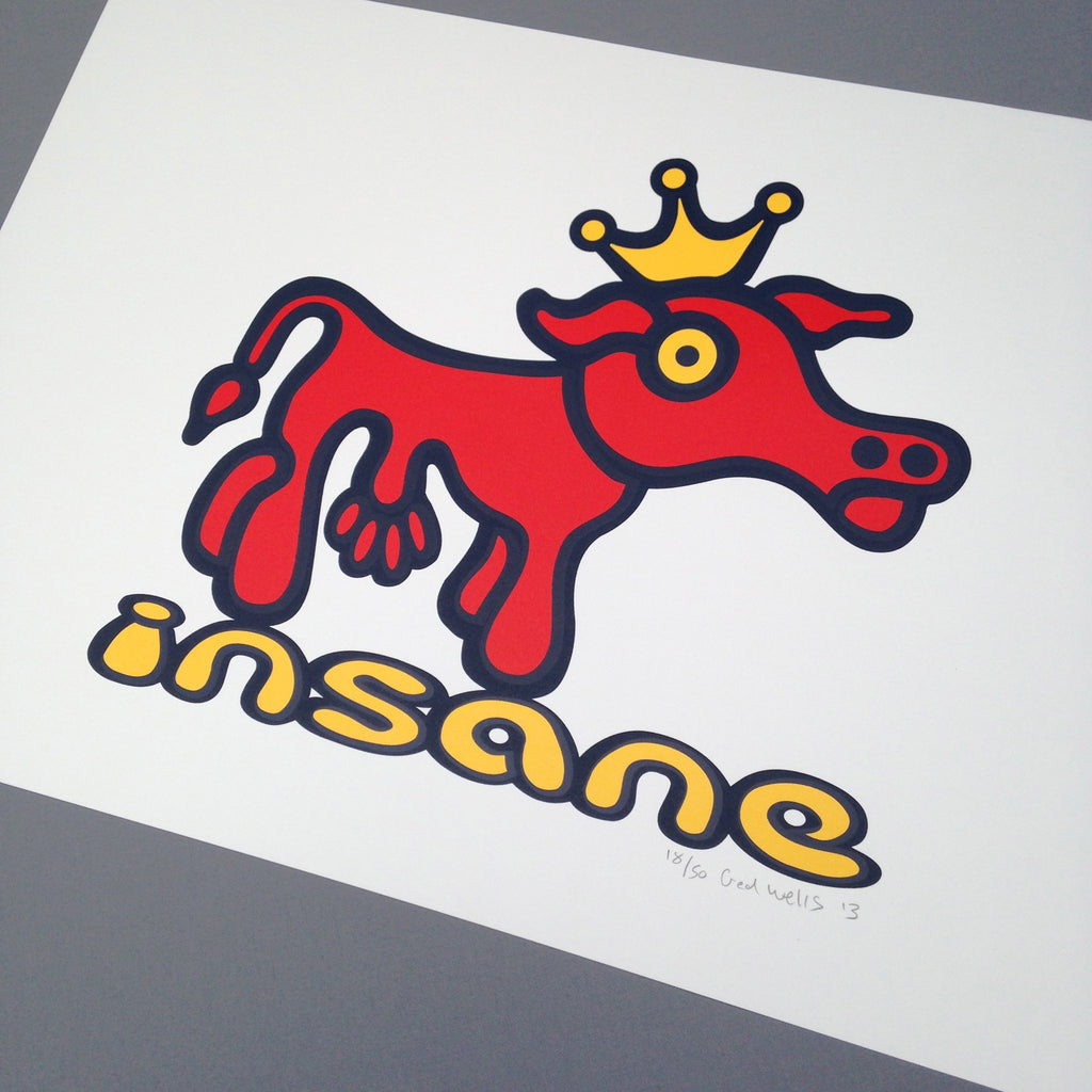 Mad Cow Screen Print.