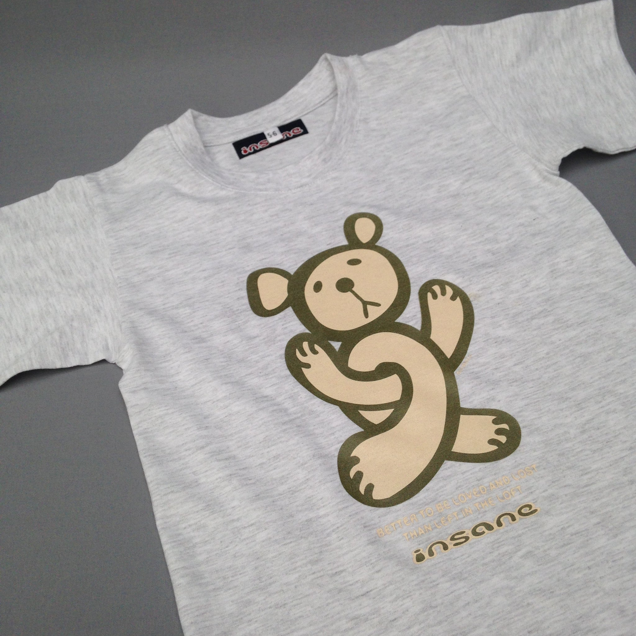 Kids Twisted Teddy grey T shirt