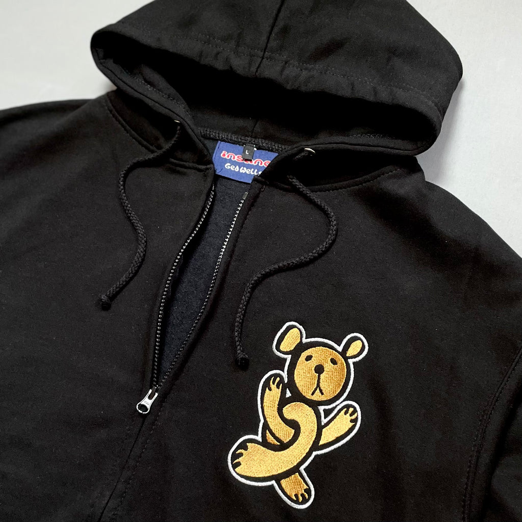 Insane embroidered Twisted Teddy Zip Hoodie